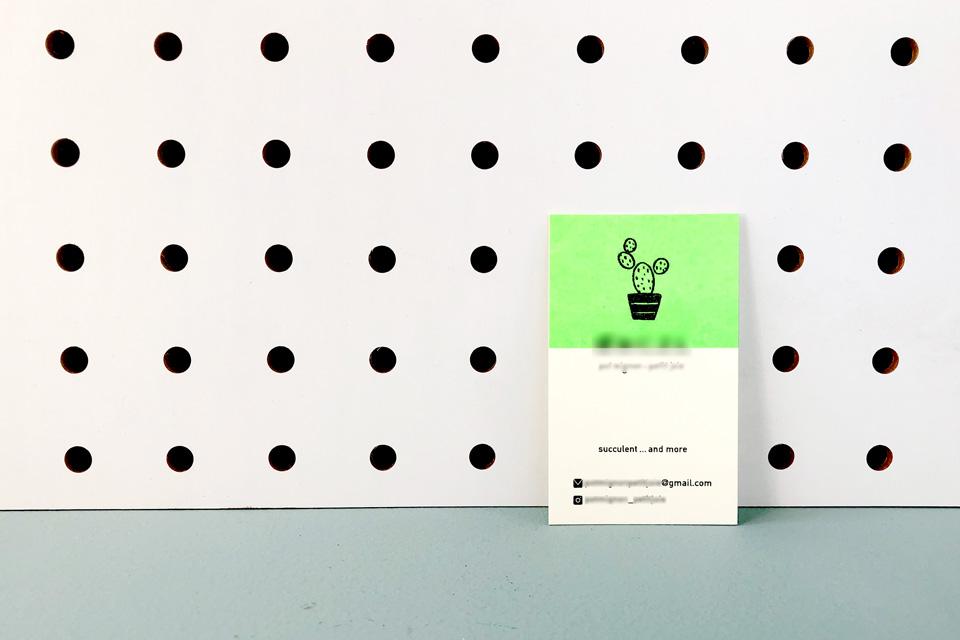 シンプルでかわいいイラストのショップカード