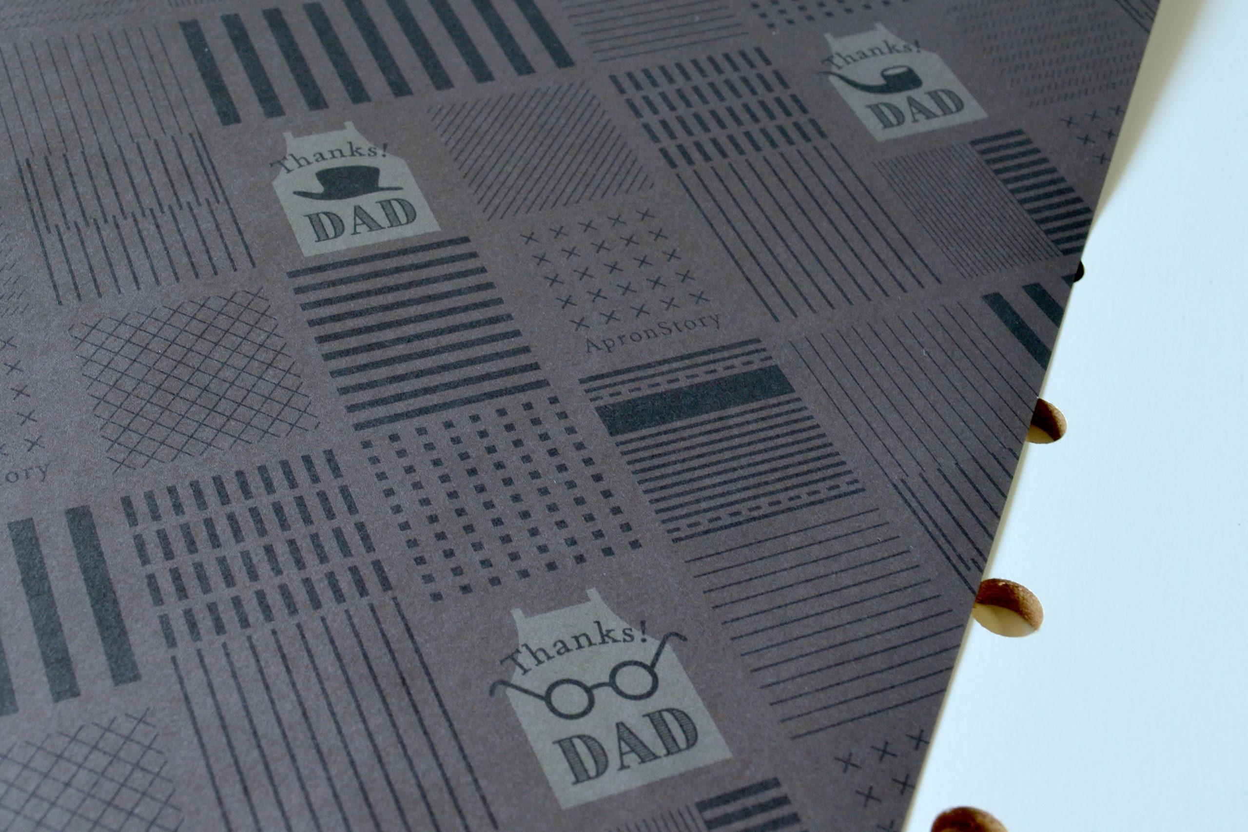 父の日 包装紙デザイン