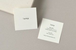 シンプル ショップカード デザイン