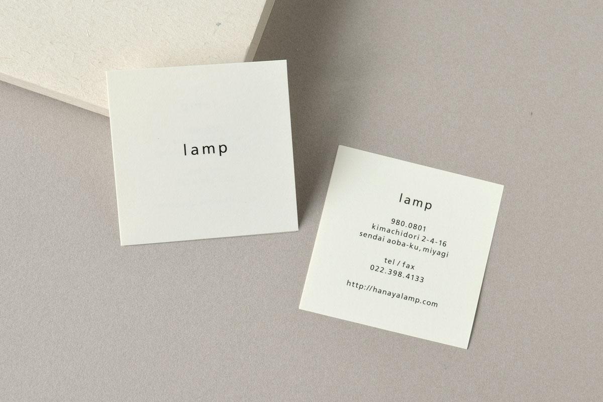 正方形のシンプルでおしゃれなショップカードデザイン